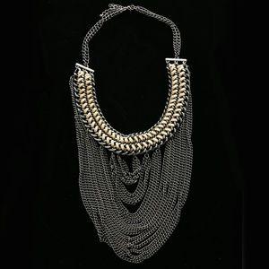 Luxury Necklace Gunmetal/Brown NWOT